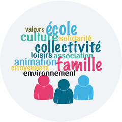 Auray : logo du Projet Educatif Global de la Ville d'Auray